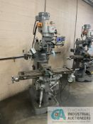 """3-HP CLEVELAND VERTICAL MILL; 70 - 4,200 RPM, 9"""" X 42"""" TABLE, PTF, ACU-RITE DRO, 6"""" MILL VISE, R-8"""
