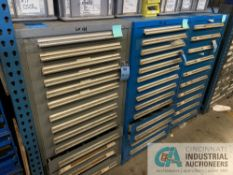 VIDMAR CABINETS W/ CONTENTS INCLUDING VARIOUS HARDWARE & PIPE FITTINGS
