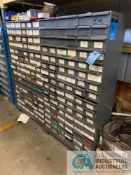 (LOT) (2) PIGEON HOLE CABINETS & (1) SET MSC CABINETS W/ CONTENTS INCLUDING VARIOUS HARDWARE