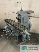 """CINCINNATI NO. 2L HORIZONTAL MILLING MACHINE; SHOP NO. 03016-9511, 10"""" X 52-1/2"""" TABLE"""
