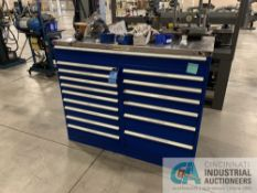 16-DRAWER STOR-LOC TOOLING CABINET W/ CONTENTS INCLUDING INDEXABLE TOOLING, CARBIDE INSERTS, END