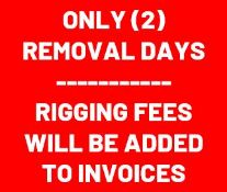ONLY (2) REMOVAL DAYS - If you cannot pick up Mon. 9/13 or Tues 9/14 please DO NOT BID
