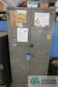 (LOT) MISCELLANEOUS SHOP SUPPORT EQUIPMENT WITH STORAGE CABINET