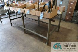 """48"""" X 96"""" X 36-1/2"""" OVERALL HEIGHT X 5/8"""" THICK STEEL TOP PLATE SIX POST WELDED STEEL TABLE **"""