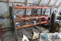 """SECTION 44"""" X 100"""" X 75"""" HIGH ADJUSTABLE BEAM PALLET RACK WITH METAL DECKING SLATS"""