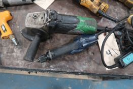 ANGLE GRINDER & 1 POWER SCREW DRIVER