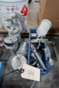 LOT ASSORTED PAINT SPRAY GUNS & ACCESSORIES