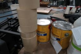 LOT OF 2 GALLONS OF PAINT & TAPE