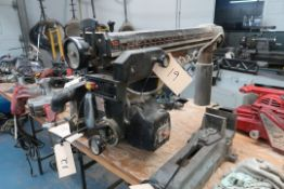 SEARS 10'' RADIAL SAW W/TABLE