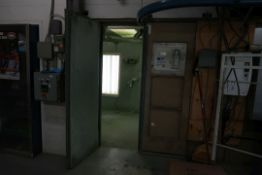 PAINT BOOTH 7'X20' WITH ADJACENT DRY OVEN 10'X12', SUSPENDED CONVEYOR