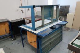 METAL TABLES, 47''X70'' & 30''X60''