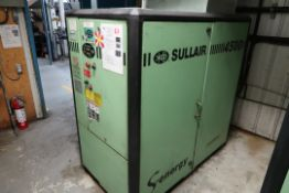 SULLAIR 60 HP SCREW TYPE AIR COMPRESSOR MOD: 4509/A, SN: 200707260102, 51523 HOURS, 575 VOLTS **