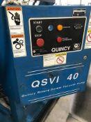 QUINCY 40 HP ROTARY SCREW VACUUM PUMP MOD: QSVI 40