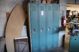 "Steel lockers 48"" x 18"" x 78"""