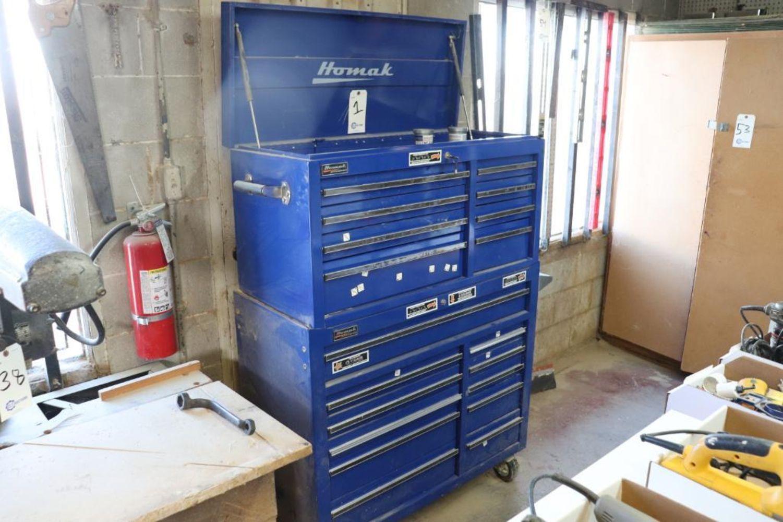 Custom laminate cabinet shop, woodworking auction
