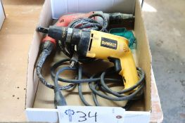 Milwaukee & DeWalt screw guns