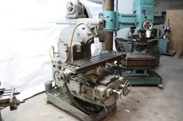 Van Norman vertical universal milling machine