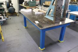 "Welding table 86"" x 48"" x 32"" 1"" plate"