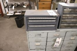 Endmill organizer w/ endmills, carbide w/ some HSS