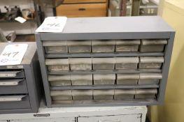 Dowel pins w/ bin cabinet