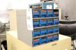 Index cabinet w/ reamers, HSS & carbide