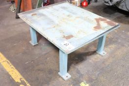 """Low welding table, 1"""" plate"""