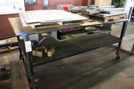 Fabrication table w/aluminum scrap