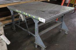 4' ball transfer fabrication table