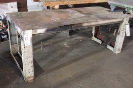 "Welding table 1/4"" plate top"