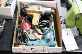 "Corded 1/2"" impact, screw gun & angle grinder"