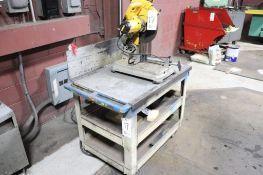 DeWalt abrasive cut-off saw with stand