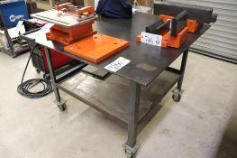 Rolling steel welding table