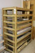 Material rack w/ aluminum & acrylics