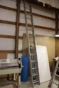 25' Aluminum extension ladder