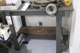 """Wood workbench Overall: L 48"""" x W 24"""" H 35.25"""""""