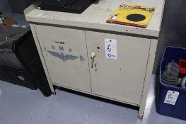 Steel tray top cabinet