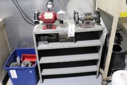 Bench grinders w/ cabinet