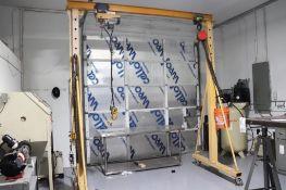 Rolling gantry crane w/ electric & chain hoist