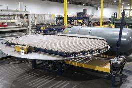 Powered roller conveyor turntable
