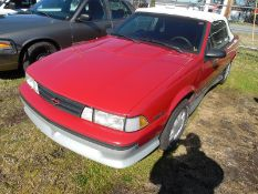 1989 CHEVROLET Cavalier Z24 convertible - 81,992 miles showing rear window in convertible bad -