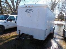 2000 LEONARD 16' enclosed utility trailer vin #4PL500G25Y1045260