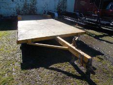 HOMEMADE 28'x8' utility/equipment trailer (NO TITLE)