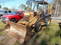 FORD 555D 4WD backhoe/loader, 4n1 bucket - 5,313 hrsmissing hood side panels
