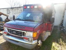 2006 FORD E450Ambulance, diesel, (not running) busted flywheel VIN 1FDXE45PX6DB12864