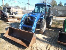 NEW HOLLAND TN75DA 4WD utility tractor, cab, frontend loader - 2320 hrs