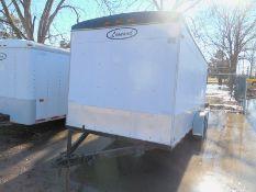 1999 LEONARD 16' enclosed utility trailer extra height