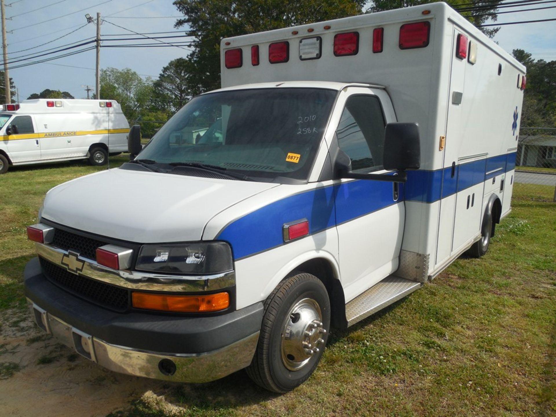 2010 Chev box van ambulance dsl, 250,597 miles, vin# 1GB9G5B65A1116120 - Image 2 of 6