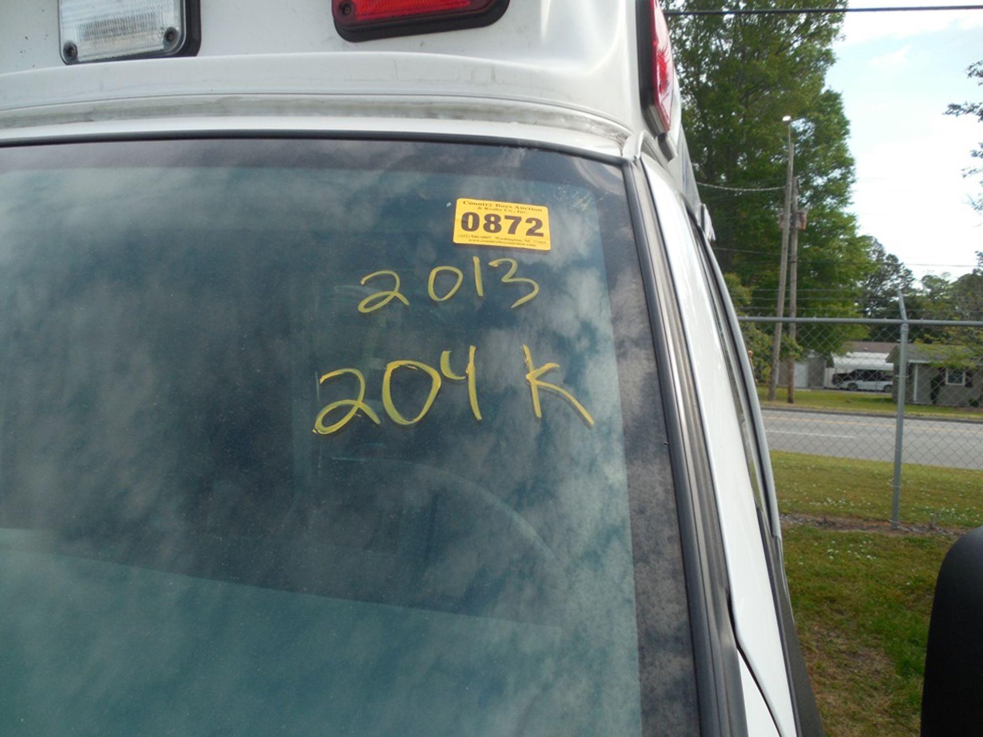 2013 Chev van ambulance dsl, Express Stable Trac 204,709 miles vin# 1GBZGUC13D1130018