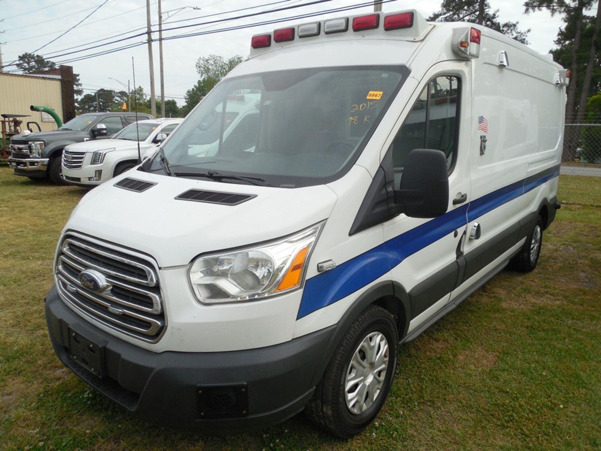 2015 Ford Tansit 250 dsl ambulance 98,714 miles vin# 1FDYR2CV4FKB33641 - Image 2 of 6
