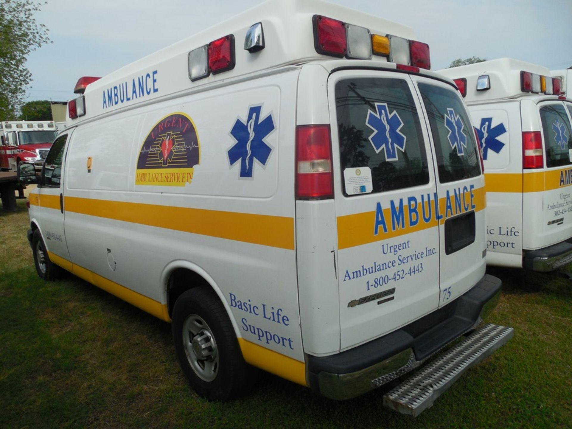 2013 Chev van ambulance dsl, Express Stable Trac 204,709 miles vin# 1GBZGUC13D1130018 - Image 5 of 6